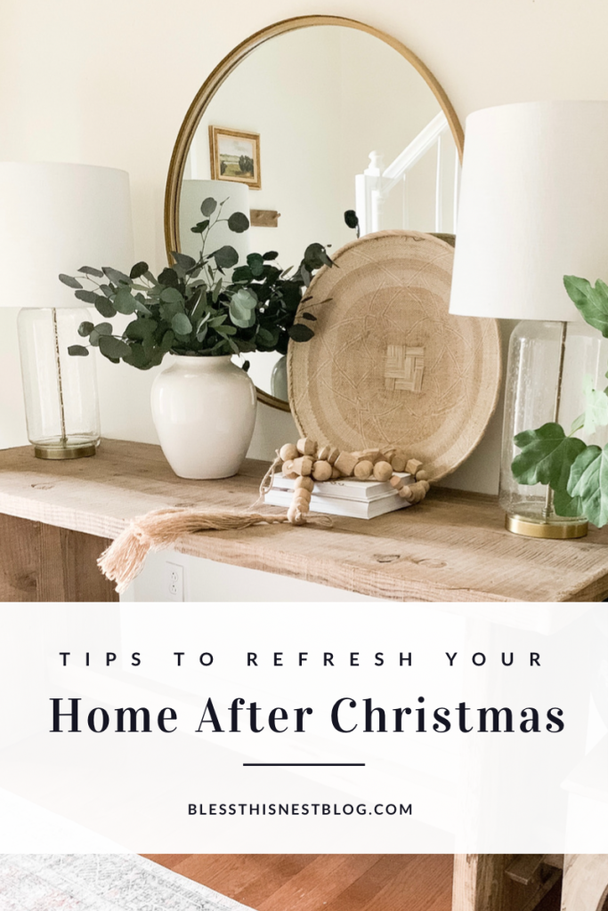 Tips to decorate your home after Christmas blog banner