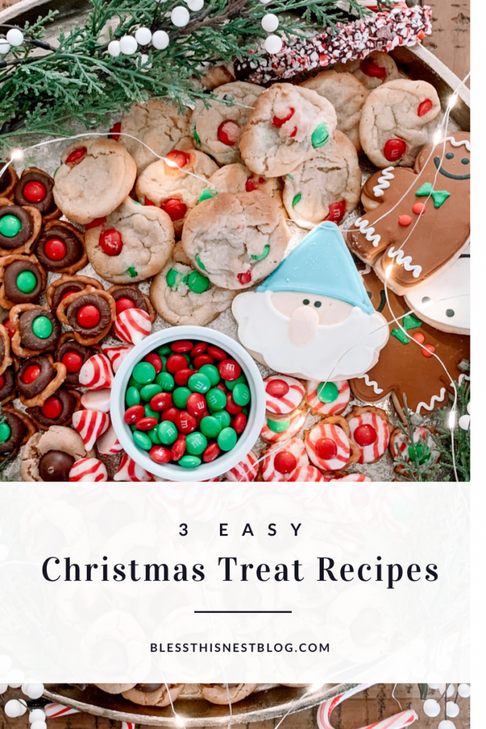 easy Christmas treat recipes blog banner