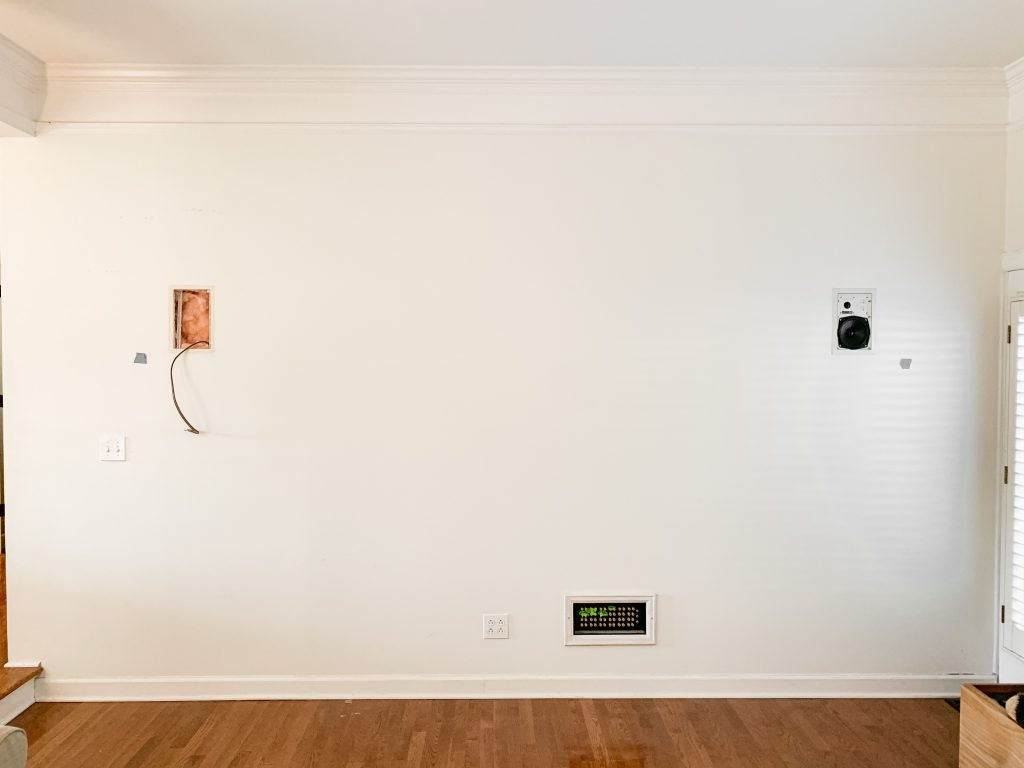 blank wall in living room