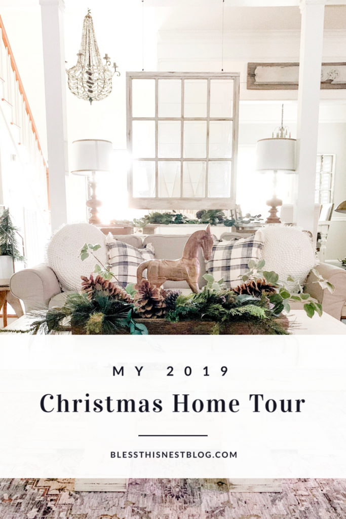 My 2019 Christmas Home Tour blog banner.