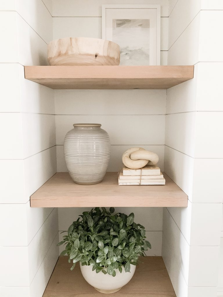 close up of shelfs and decor