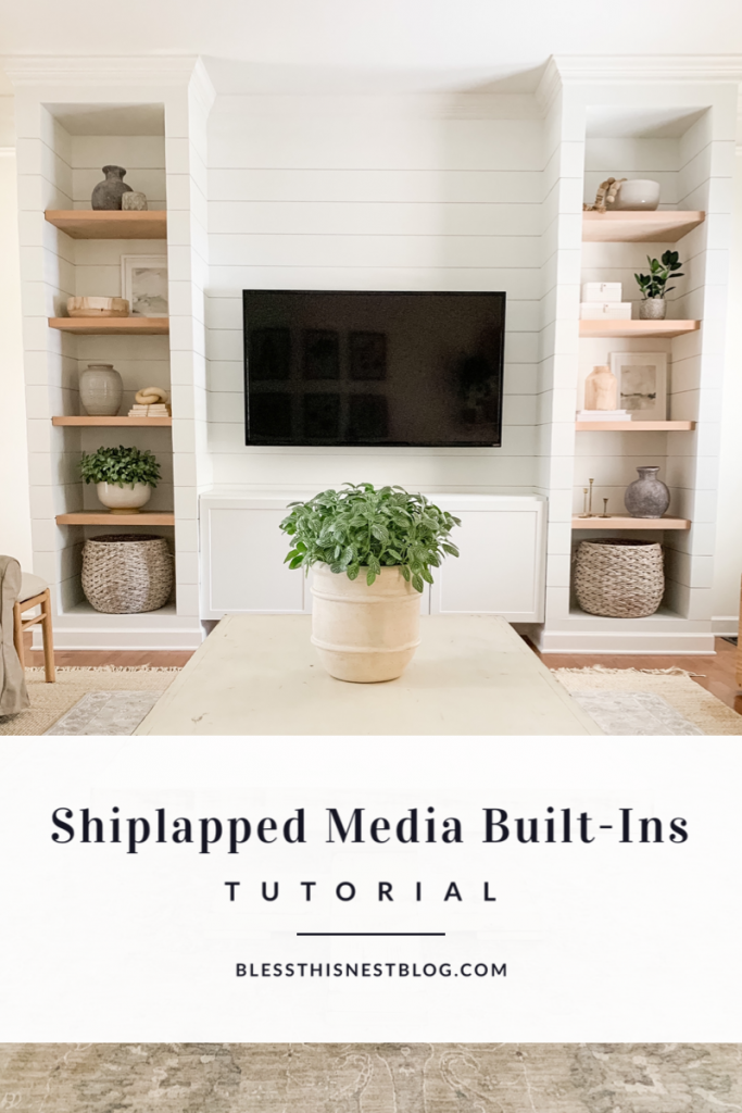 shiplapped media built-ins