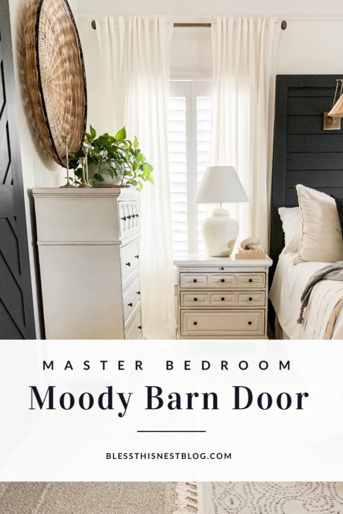 master bedroom moody barn door blog banner