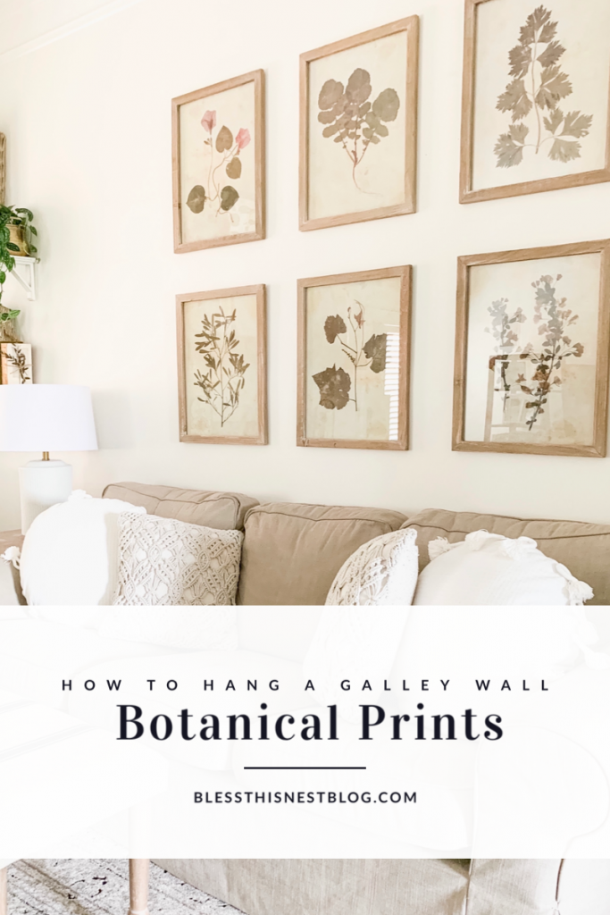 how to hang a gallery wall blog banner